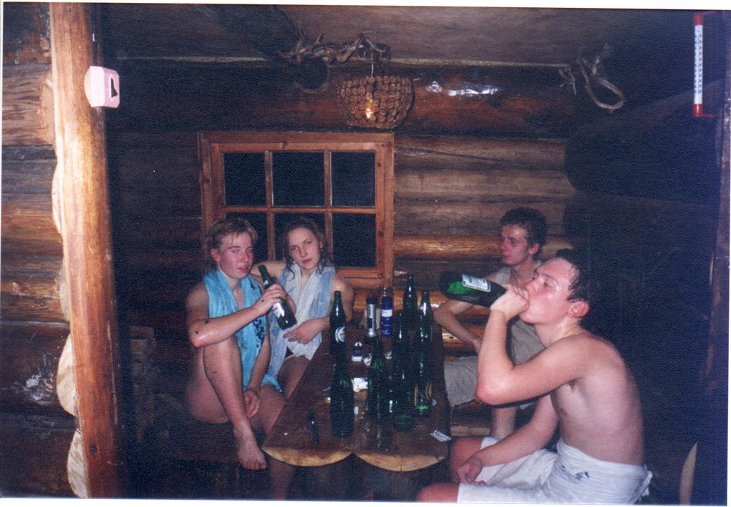 с друзьями фото в сауне